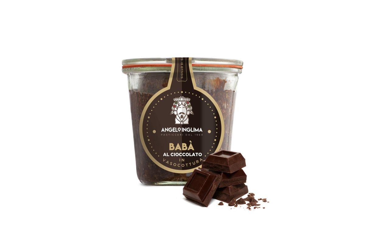 babà al cioccolato in vasocottura pasticceria angelo inglima vendita online spedizione in 24/48 ore